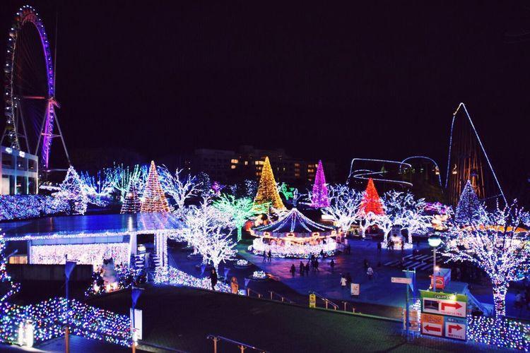 Yomiuriland, Japan Illumination Beautiful Lights Christmas Lights Theme Park Japan Yomiuriland Tokyo Nikon DSLR Photography Night