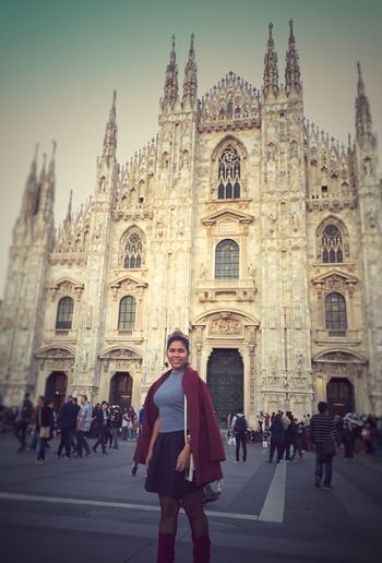 Duomo church of Milan Travel Destinations Portrait History Beautiful Woman Duomo Milano Outfit For Today :) Vacations