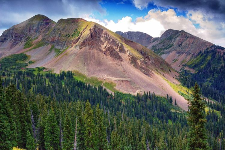 Majestic View Of Colorado Mountain In Summer
