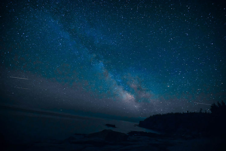 Maine Acadia National Park Acadianationalpark Astronomy Beauty In Nature Galaxy Idyllic Infinity Milky Way Nature Night No People Scenics - Nature Sea Sky Space Star Star - Space Star Field Tranquil Scene Tranquility Water
