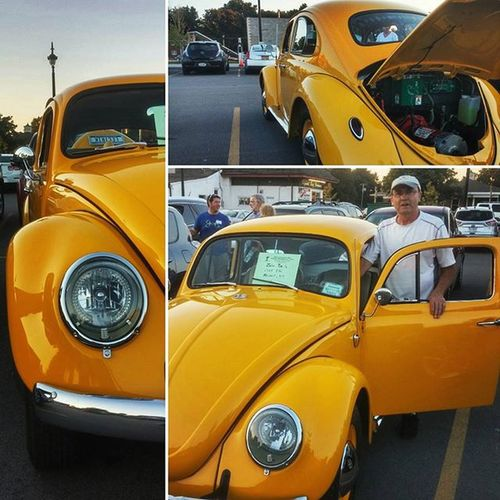 Dad took his VW to the electric car show tonight, it was pretty cool there. The Bug got a lot of attention.