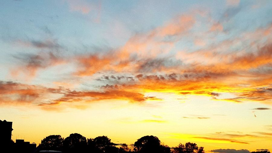 Sunset Sunset Sky Dramatic Sky City Multi Colored Scenics