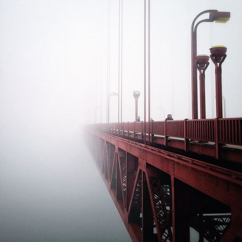 Golden Gate Bridge In Foggy Weather