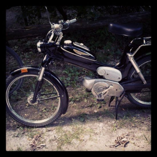 things i ride in my childhood :) Motorbike Puch Ms50 Black