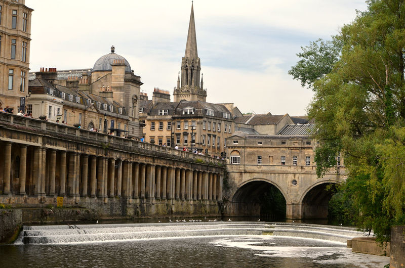 City center of Bath City, England UK Built Structure Architecture Building Exterior Building Sky Water Nature River Connection Tree Bridge Travel Destinations City Plant The Past Bridge - Man Made Structure History Waterfront Day Arch No People Outdoors Arch Bridge Spire
