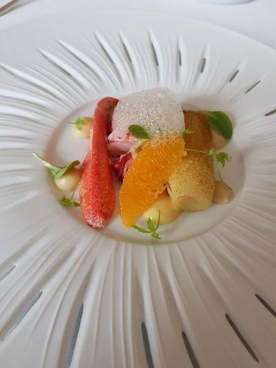 Lobster with Leek and Mandarine Lea Linster Lobsters Leek Food And Drink Food Seafoods Fruit Close-up