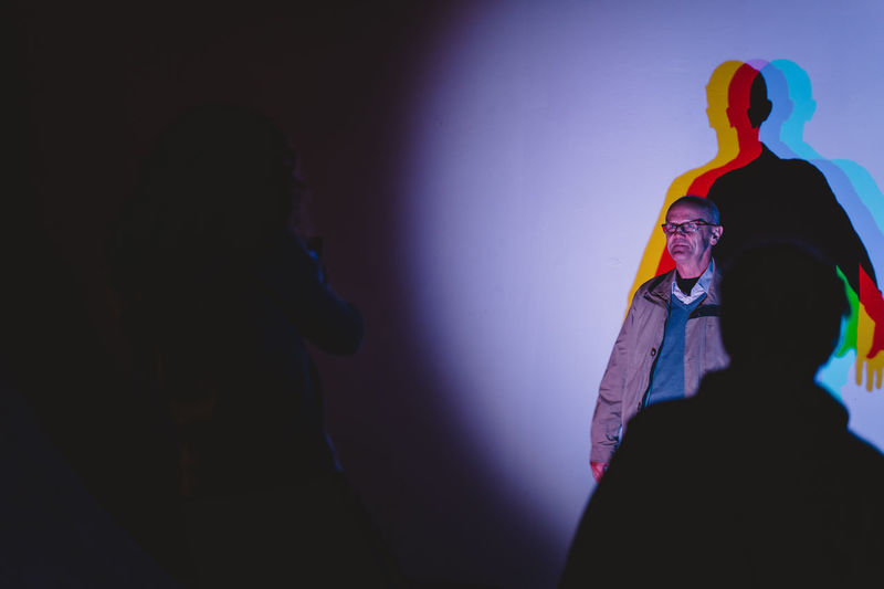 Berlin Photo Week 2018 Berlin Photo Week BPW18 EyeEem Indoors  Illuminated Standing People Arts Culture And Entertainment Men Nightlife Performance Adult Rear View Headshot Women Real People Stage - Performance Space Event Portrait Light Dark Stage Stage Light Concert