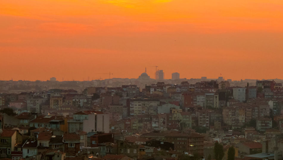 Ancient History Chaotic City Cityscape Istanbul Travel Turkey Architecture Building Exterior Built Structure City City Horizon Cityscape Culture Day No People Outdoors Place Sky Sunset Urban