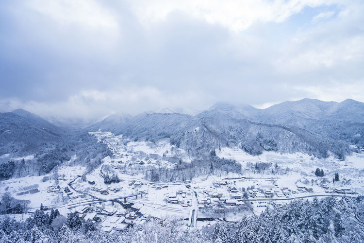 Cloud - Sky Scenics - Nature Beauty In Nature Sky Cold Temperature Snow Landscape Winter Environment Tranquil Scene Nature Mountain Tranquility No People Day Mountain Range Non-urban Scene White Color Idyllic Outdoors Snowcapped Mountain
