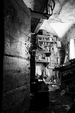 Grandpa's workshop Nikon Workshop B/W Photography Südtirol Alto Adige Interior Room Open Door First Eyeem Photo EyeEmNewHere