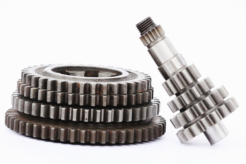Industrial Machinery Mechanical Transmission Close-up Gear Manufacturing Mechanics Metal No People Pinion Precision Shift Steel Studio Shot Technology Teeth Toothing White Background