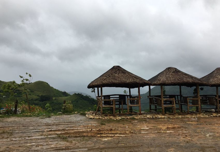 Treasure Mountain Nipa Hut Hut Beauty In Nature Scenics Nature Outdoors Day Mountain Cloud - Sky Sky