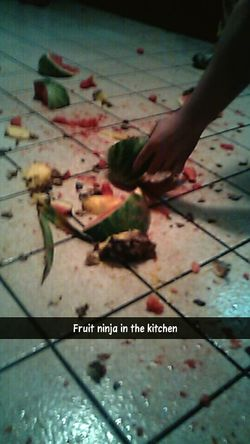 This happens constantly at my house, especially now that we have a machete.. Snapchat LOL DRUNKEN NIGHTS Fruit Ninja
