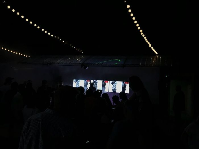 Nightshot Large Group Of People Real People Arts Culture And Entertainment Enjoyment Illuminated Youth Culture Audience Men Nightlife Stage Light Lifestyles Leisure Activity Indoors  Stage - Performance Space Event Crowd Music Togetherness Popular Music Concert Day