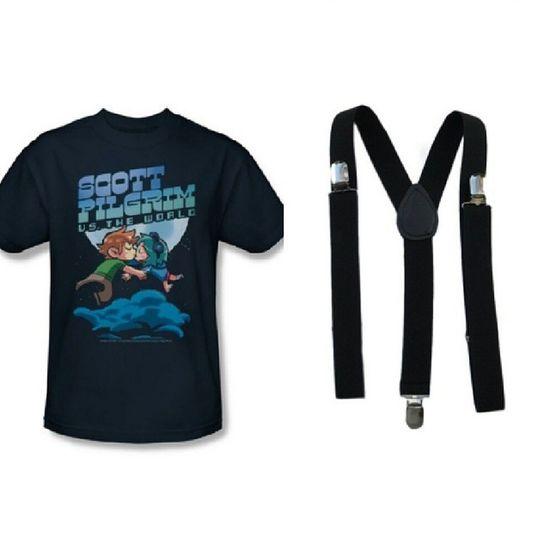 Scott Pilgrim Vs The World Shirt & Suspenders Geekgirl ScottAndRamona Awesomeness