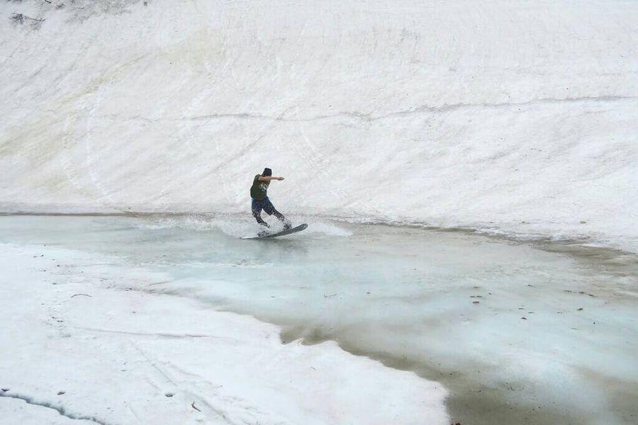 滑り納め^_^ Nature Outdoors Snowmountain Good Times Mountain Snowboard Backcountry Enjoying Life