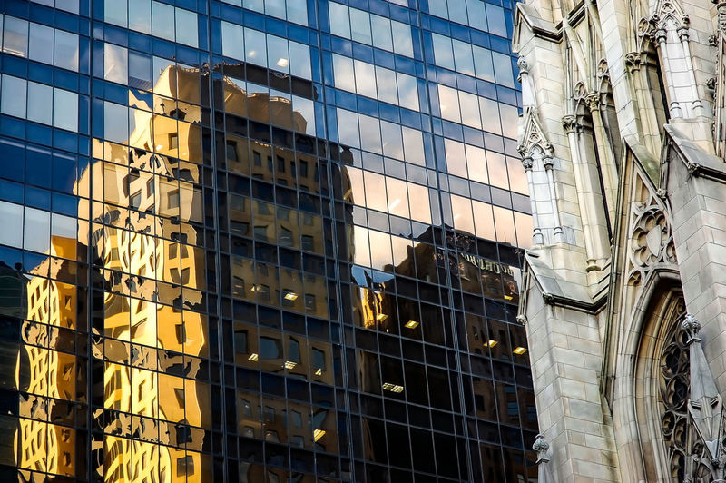 Cathédrale Saint Patrick Architecture Building Building Exterior Built Structure Cathedral Church City City Life Development Exterior Façade Geometry Glass Glass - Material Modern Narrow New York NYC Office Building Reflection St Patrick's Cathedral Urban Window
