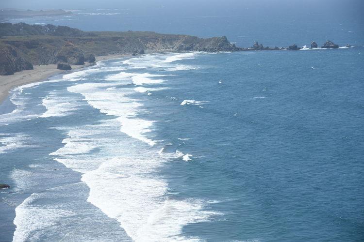 Scenic View Of Wavy Ocean