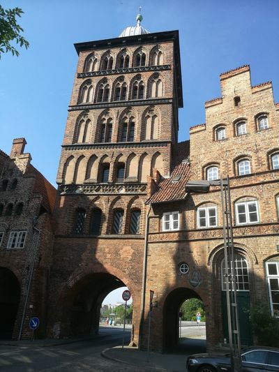 Burgtor Lübeck Politics And Government City Clock Face Clock History Arch Bridge - Man Made Structure Architecture Sky Building Exterior