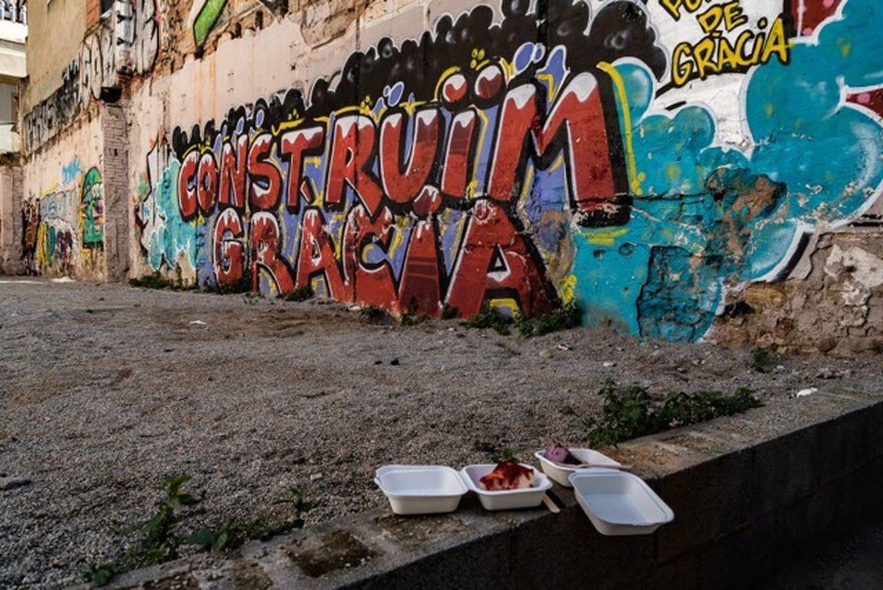 VIEW OF GRAFFITI WALL