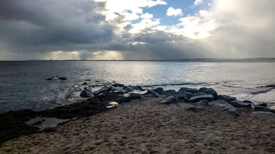 Baltic Sea Beach Beauty In Nature Cloud - Sky Day Horizon Over Water Nature No People Outdoors Sand Scenics Sea Sky Stones Storm Cloud Tranquil Scene Tranquility Water