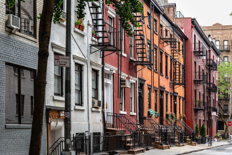Buildings By Street In City