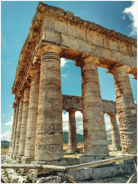 Animal Themes Architectural Feature Architecture Built Structure Segesta Greek Theater Segesta Italy Teatro Tempio Wonderful Place