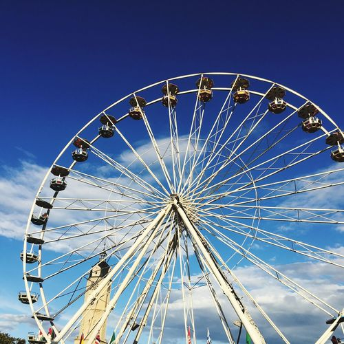EyeEm Selects Jena City Of Jena Ferris Wheel Amusement Park Arts Culture And Entertainment Low Angle View Blue Circle Big Wheel Amusement Park Ride No People Sky Day Clear Sky Outdoors Happiness