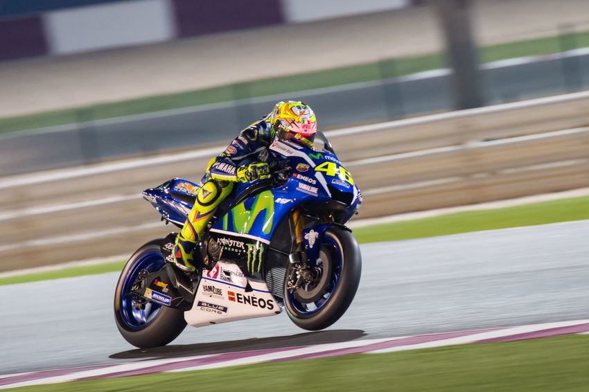 MotoGP riders during the final preseason test before the start of the 2016 MotoGP season Losail LosailCircuit Motogp MotoGP2016 Motorcycle Motorsports Preseason Qatar Race Racing Test ValentinoRossi