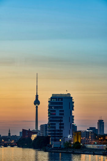 Berlin tones Berlin Germany Deutschland Berliner Fernsehturm Fernsehturm Travel Travel Destinations City Cityscape Urban Skyline Skyscraper Sunset Water Sea Nautical Vessel