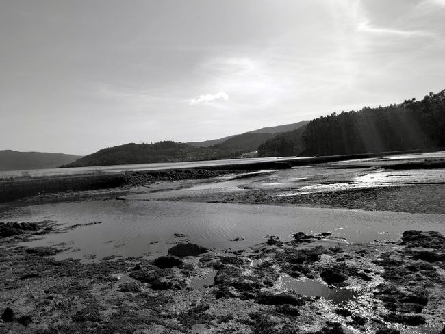 Water Nature Outdoors No People Sky Cloud - Sky Landscape Day Sand Travel Destinations Beauty In Nature Beach Scenics Hot Spring Huawei P10 Plus Blackandwhite Black And White Photography NewEyeEmPhotograph