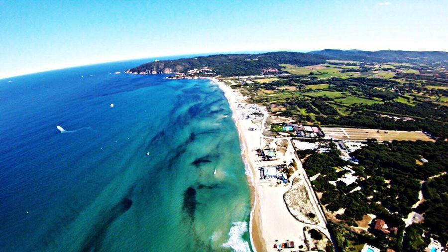 Drone  Ramatuelle Sainttropez vue de la plage de Pampelone Pampelone Beach A Bird's Eye View