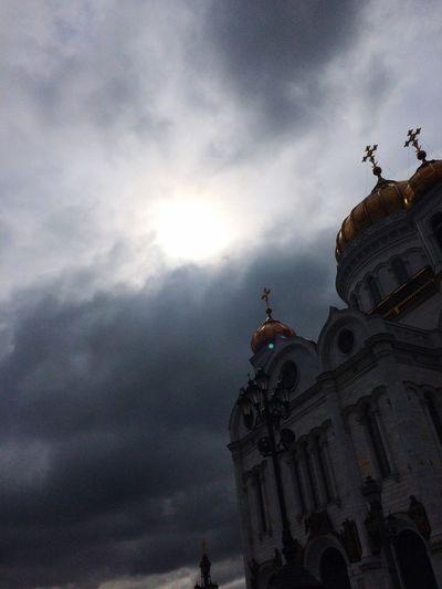 Moscow ХрамХристаСпасителя Clouds And Sky