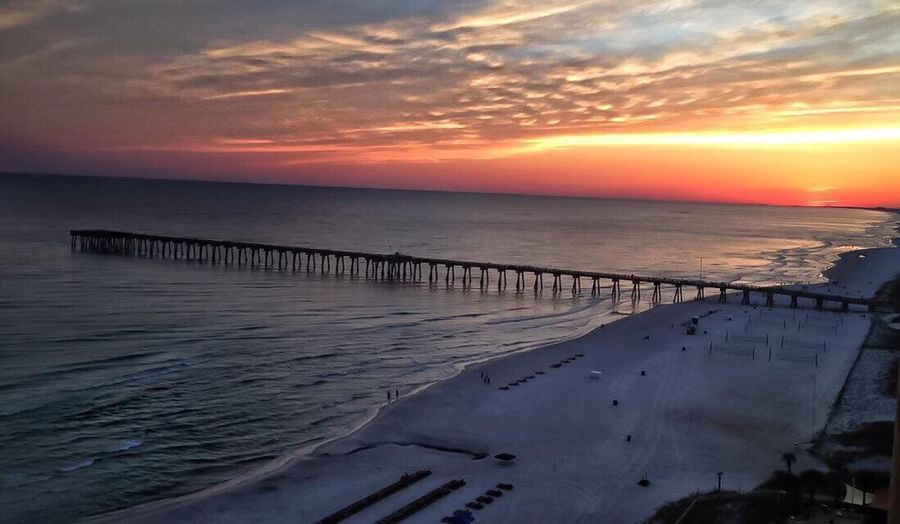 43 Golden Moments The pier taken from the Calypso Beach Resort PCB, Florida