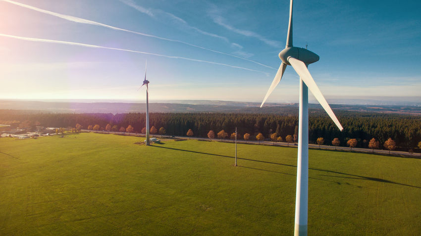 Alternative Energy Beauty In Nature Day Field Fuel And Power Generation Grass Industrial Windmill Landscape Nature No People Outdoors Renewable Energy Rural Scene Scenics Sky Technology Tranquility Tree Wind Power Wind Turbine Windmill