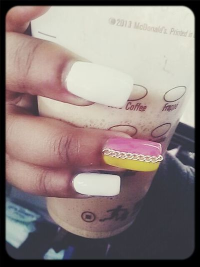 New Nails :)  I Love My Nails <3 I <3 McDonald's Gold Chain