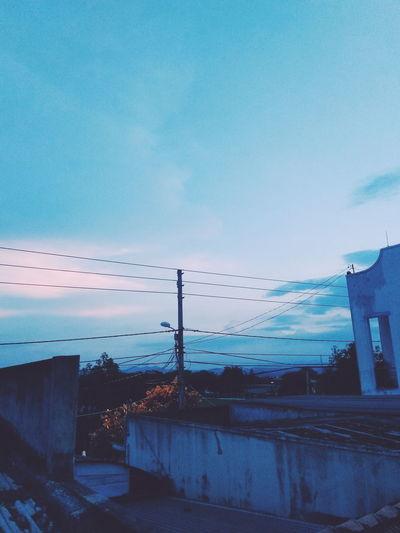 favorite place 💙 Cloud - Sky Blueclouds Bluecloudysky Electricpole Bluesky Bluetint Homie Upstairs Blue Sky Sunset Lighthouse Dramatic Sky Scenics Atmospheric Mood First Eyeem Photo