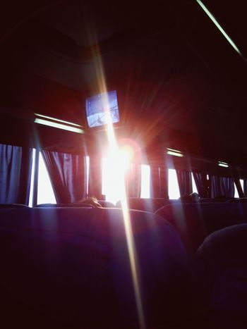 Viajando y esto me despertó ;) Traveling In The Bus Sunlight And Shadow Watching The Sun