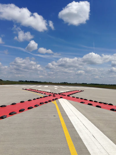 closed landing runway at the airport Landing Runway Landing Strip Landing Zone Main Runway Airstrip Blocked Closed Disabled No-landing Zone Runway