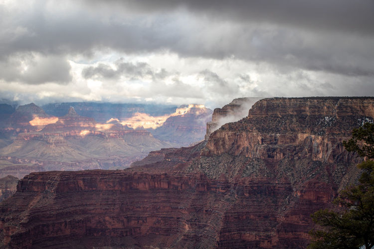 Grand canyon during a storm