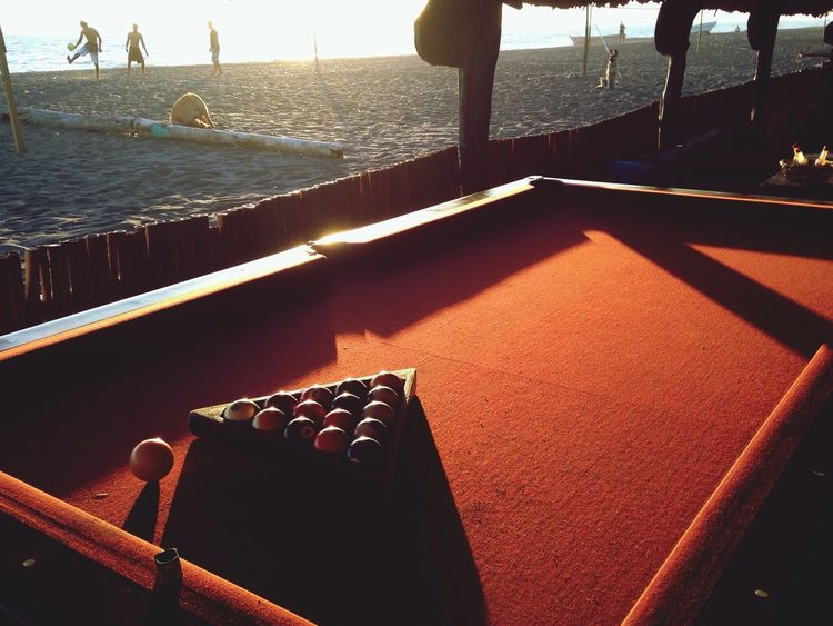 Playing Pool Chilling beach