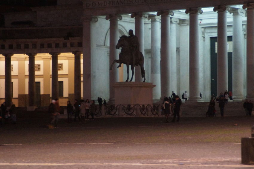 The colours of Piazza Plebiscito in Naples Cavalli Colours Green Color Napoli Place Statue Blue Horse Neapolis Orange Color Piazza Piazza Plebiscito Red Color Violet Yellow