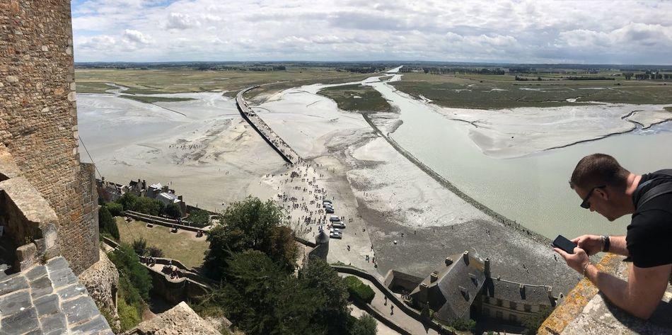 View from Mont Saint-Michel Water Nature Sea Beauty In Nature Real People Sky Land Idyllic Tranquil Scene