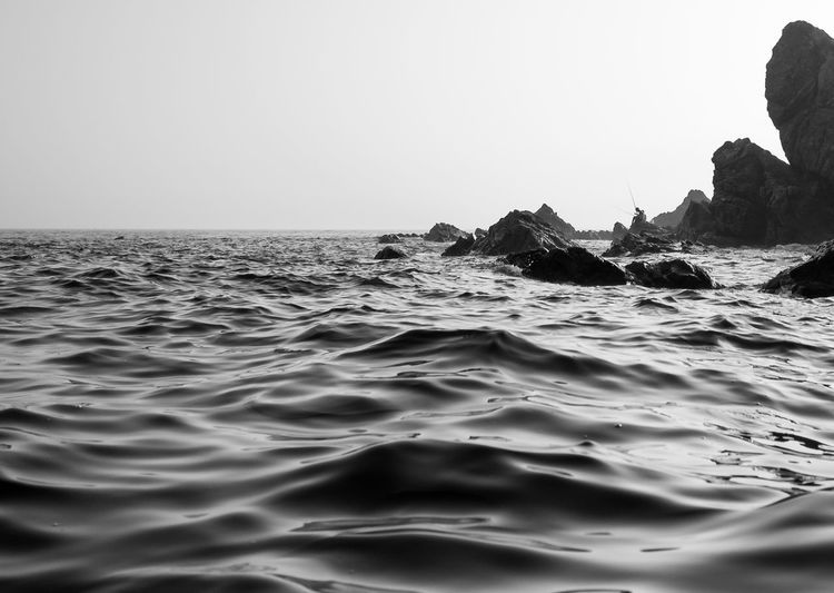 EyeEm Best Shots EyeEm Nature Lover EyeEm Selects EyeEm Gallery EyeEmNewHere FUJIFILM X-T2 Beauty In Nature Blackandwhite Monochrome Nature Outdoors Scenics Sea Tranquility Water Wave