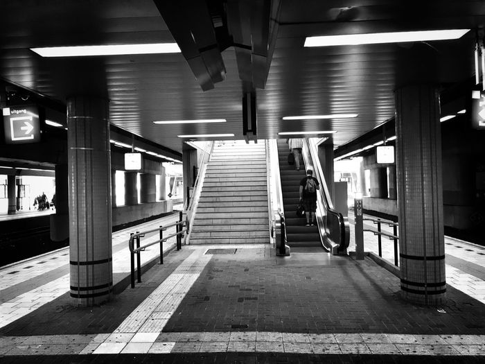 Train Train Station Traveling Travel Transport Railroad Track Railroad Railroad Station Escalator Escaping Escape Blackandwhite Black And White Black & White Blackandwhite Photography Black And White Photography Black&white Blackandwhitephotography