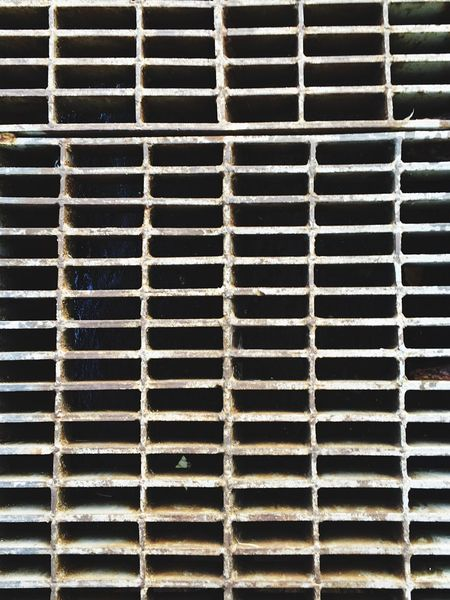 drainage texture Backgrounds Full Frame Pattern No People Textured  Close-up Built Structure Metal Day Outdoors Architecture Drainage