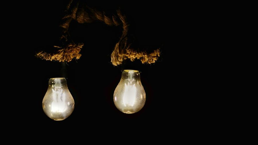 The light of darkness Illuminated Electricity  Light Bulb No People Close-up Photography Brunomphotography Indoors  Night Focus On Foreground Welcome To Black