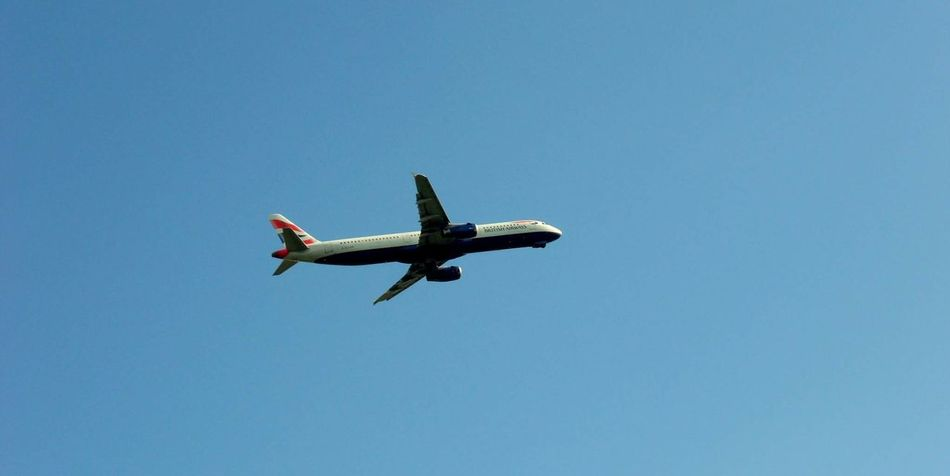 British Airways Flying Airplane Sky Airshow Blue Transportation Air Vehicle Low Angle View Clear Sky Day Outdoors No People Aerospace Industry Plane Breathing Space