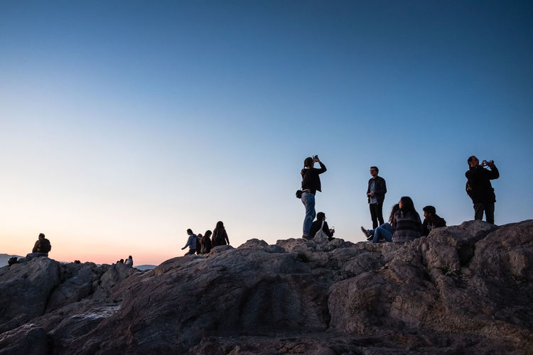 View of people on mountain