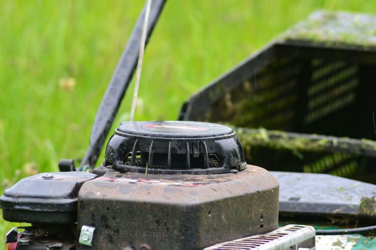 Photograph of a Old Petrol Lawnmower